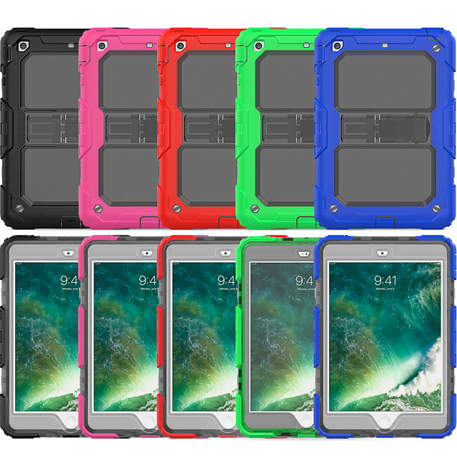 Case For Apple iPad Mini 3/2/1 / iPad Mini 4 / iPad Mini 5 Shockproof / with Stand / Translucent Back Cover Solid Colored Silica Gel / PC