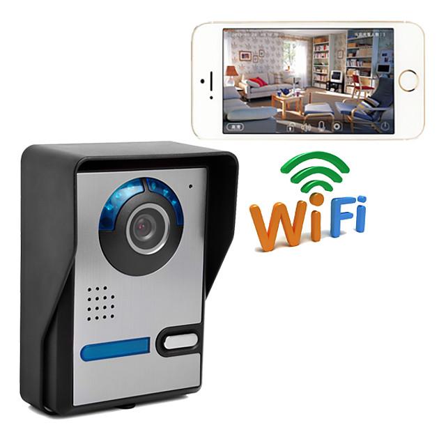 Wireless WIFI network IP Camera Video Door Phone Home Intercom System with Unlock  PWF1006FA