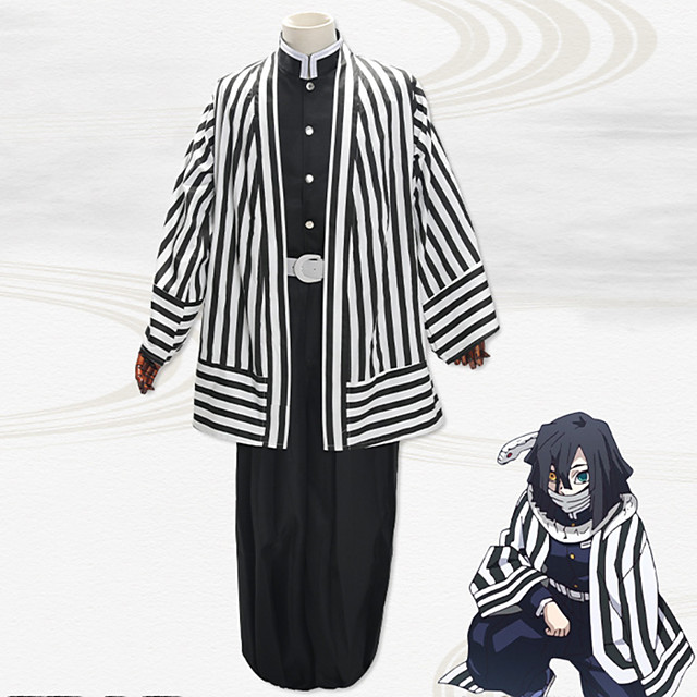 Inspired by Demon Slayer: Kimetsu no Yaiba Anime Cosplay Costumes Japanese Cosplay Suits Coat Top Pants For Men's / Waist Belt