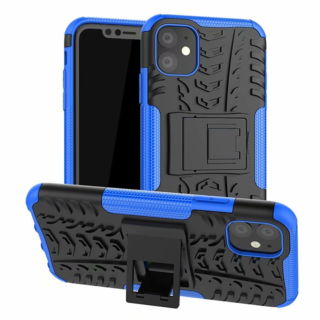 Case For Apple iPhone 11 / iPhone 11 Pro / iPhone 11 Pro Max Shockproof / with Stand Back Cover Lines / Waves TPU