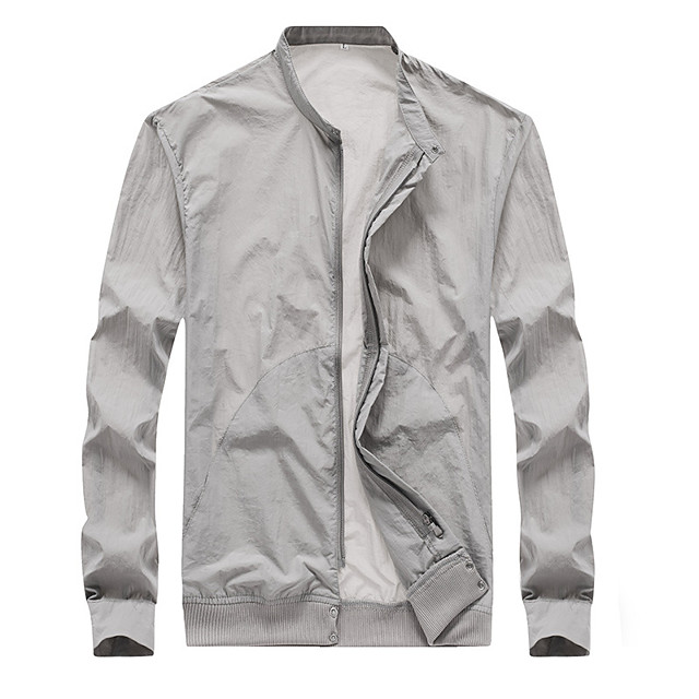 Men's Hiking Skin Jacket Hiking Jacket Summer Outdoor Waterproof Sunscreen Breathable Quick Dry Jacket Hoodie Top Running Hunting Fishing White / Black / Pink / Grey / Royal Blue