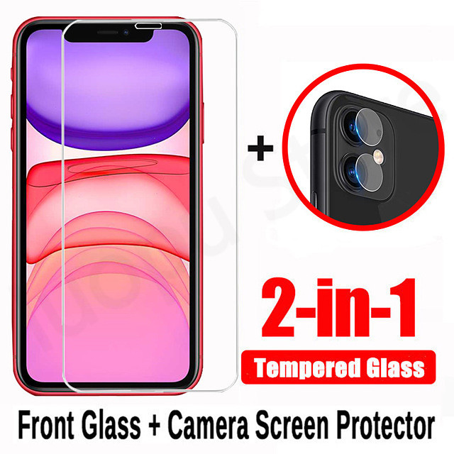 2 in 1 tempered glass for iphone 7 8 x xr xs max 11 pro max SE 2020 camera lens screen protector for iphone XR XS 7 8 plus se