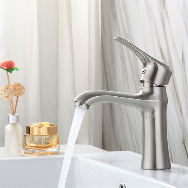 304 Stainless Steel Fire Cabinet Washbasin Faucet Bathroom Washbasin Lower Basin Wash Basin Hot And Cold Drawing Faucet