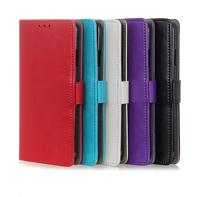 Case For Motorola MOTO E6 plus / MOTO G8PLUS / MOTO G8PLAY Card Holder / Shockproof Full Body Cases Solid Colored PU Leather