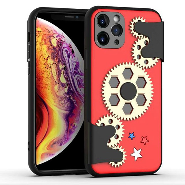 Decompression Case For iPhone 11 Pro / iPhone 11 Pro Max / iPhone SE (2020) Shockproof / Ultra-thin Back Cover Gear TPU / PC Case For iPhone 6/7/8/6P/7P/8P/XS/XR/XS Max