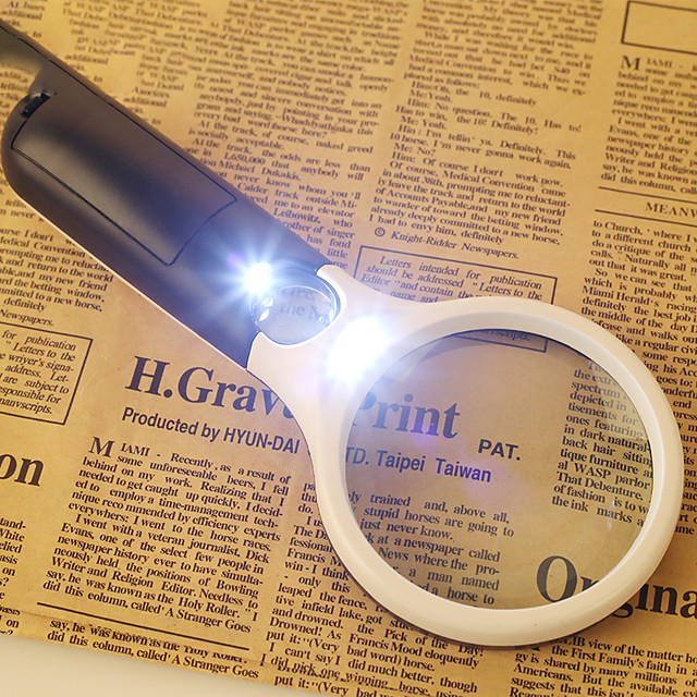 Magnifier Magnifier Glasses Magnifying Glass Set Lights LED Handheld High Magnification with Lighting Function 30 X School ABS+PC Outdoor Indoor Exploration Seniors