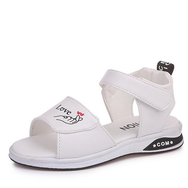 Girls' Comfort PU Sandals Little Kids(4-7ys) White / Black / Pink Summer