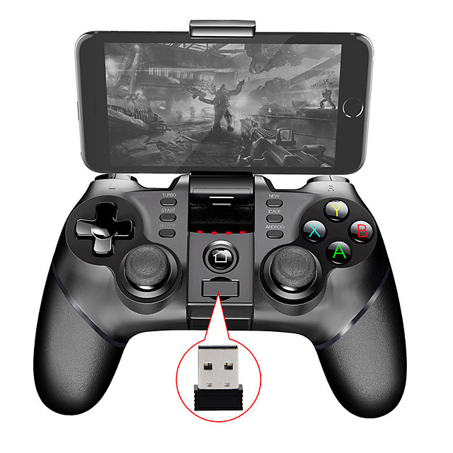9076 Batman Bluetooth Wireless Handle Gamepad for iPhone Xs max 8 plus 2.4G Receiver Support ps3 Game Console Joystick