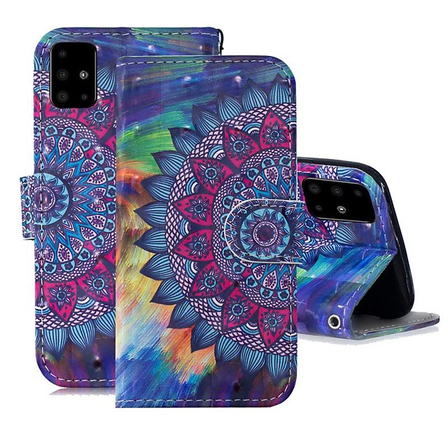 Case For Samsung Galaxy A51/ Galaxy A20e / Galaxy Note 10 Plus Wallet / Card Holder / with Stand Full Body Cases Flower PU Leather For Galaxy A71/A10S/A20S/M30S/A2 Core/A10E