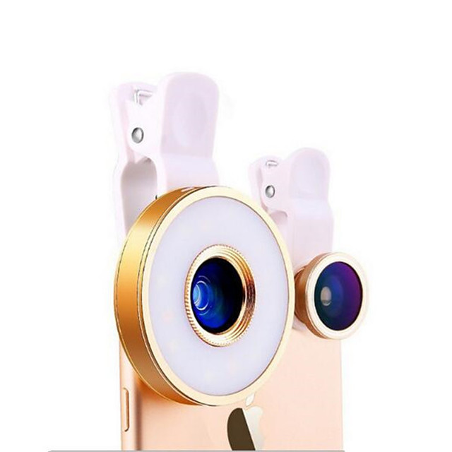 Universal 6 in 1 Lens Self-timer Phone Fill Light Live Light Artifact Camera Led Beauty Lenses for Mobile Phone