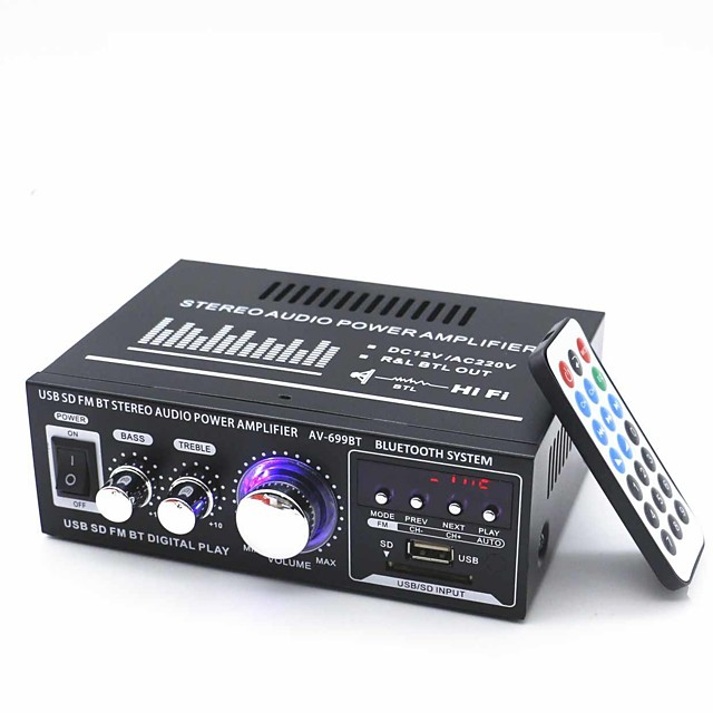 Power Amplifier Digital Audio Stereo Hi-Fi 30 2.0 699BT USB 1.0/1.1 80 for Car Home Theater Speakers DIY