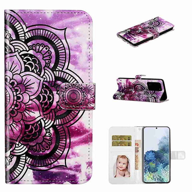 Case For Samsung Galaxy S20 / Galaxy S20 Plus / Galaxy S20 Ultra Wallet / Card Holder / with Stand Full Body Cases Purple Flower PU Leather / TPU for Galaxy A51 / A71 / A80 / A70 / A50 / A30S / A20