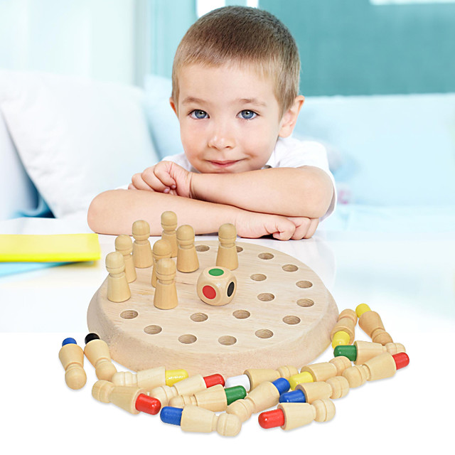 Board Game Educational Toy Wooden Memory Match Stick Chess Game Wooden family game Parent-Child Interaction Family Interaction Home Entertainment Kids Child's Boys and Girls Toys Gifts