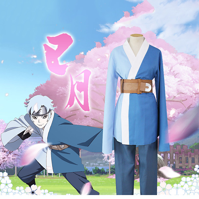 Inspired by Naruto Mitsuki Anime Cosplay Costumes Japanese Outfits Top Pants Bag For Men's Women's / Waist Belt