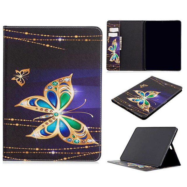 Case For Apple iPad Air / iPad 4/3/2 / iPad Mini 3/2/1 Wallet / Card Holder / with Stand Full Body Cases Butterfly PU Leather For iPad 10.2 2019/New Air 10.5 2019/Pro 11 2020/Mini 4/Mini 5/Pro 9.7