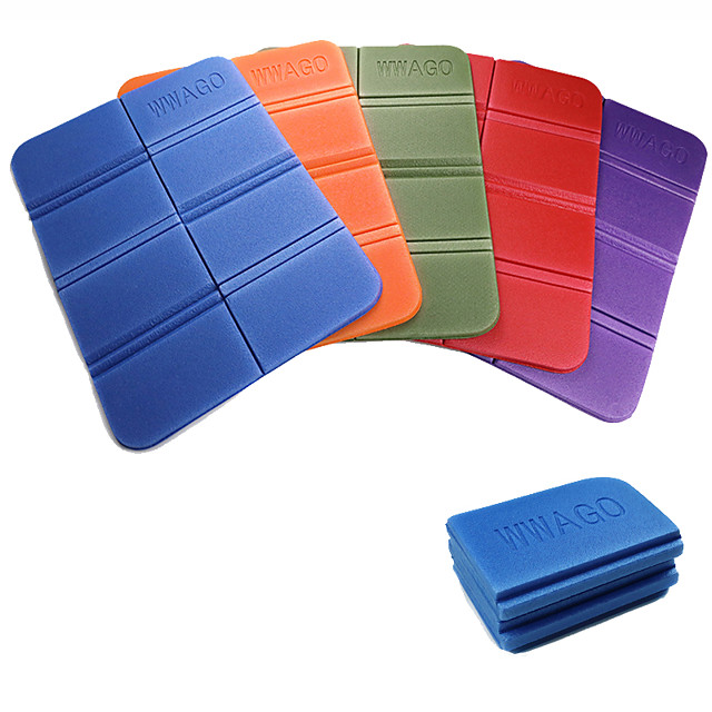 Cushion Camping Foam Pads Outdoor Camping Waterproof Portable Moistureproof Foldable XPE 39*30 cm for 1 person Camping / Hiking Hunting Fishing Spring Summer Purple Red Army Green