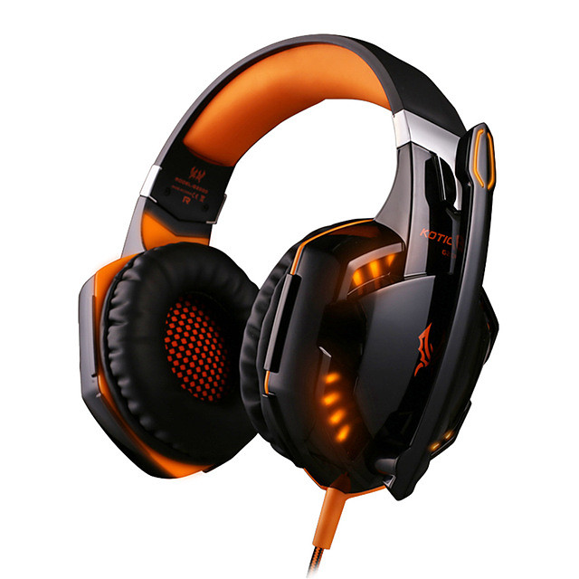 G2000 Gaming Headsets Big Headphones with Light Mic Stereo Earphones Deep Bass for PC Computer Gamer Laptop PS4 New X-BOX