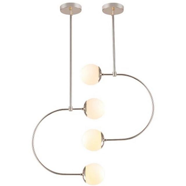 4-Light 15 cm Globe Design Pendant Light Hemp Rope Painted Finishes Traditional / Classic / Nordic Style 220-240V