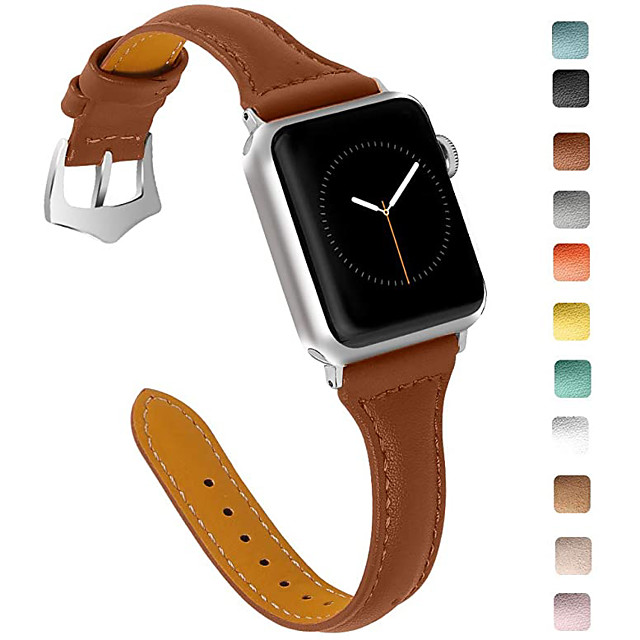 Watch Band for Apple Watch Series 4 / Apple Watch Series 4/3/2/1 / Apple Watch Series 3 Apple Leather Loop Genuine Leather Wrist Strap