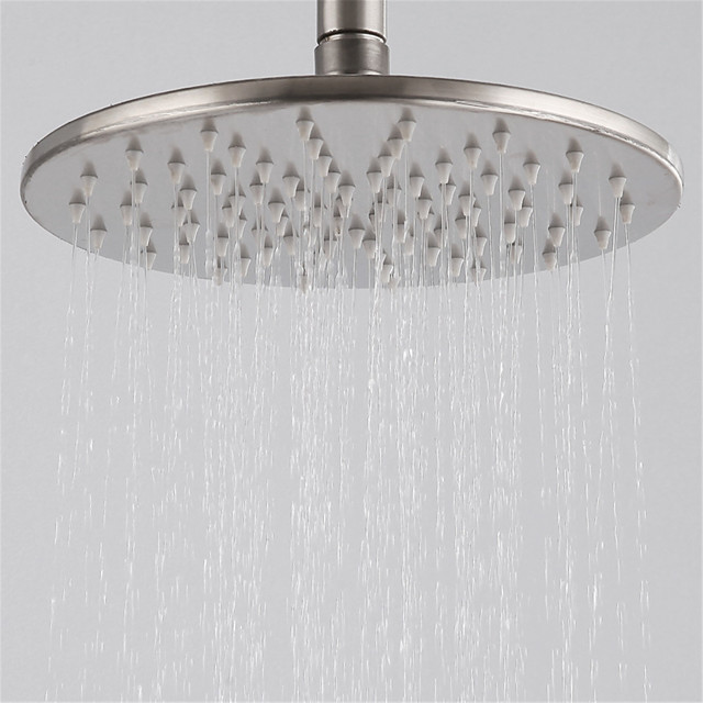 304 Stainless Steel Wire Drawing Pressurized Top Spray Bathroom Shower