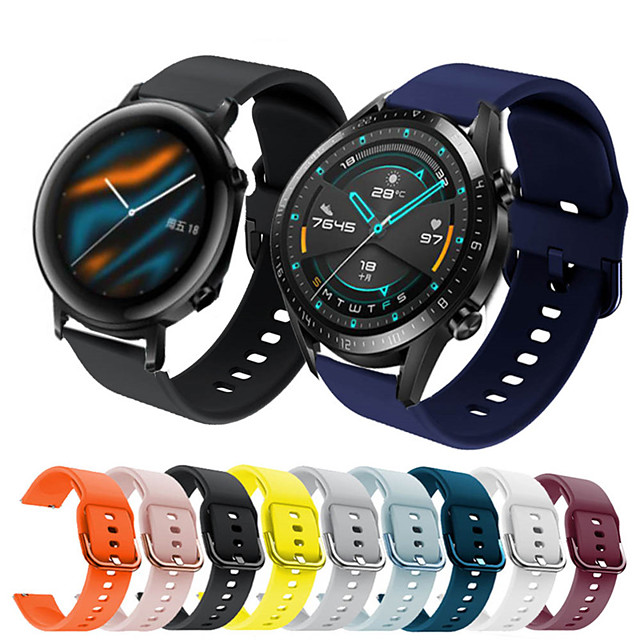 Sport Silicone Wrist Strap Watch Band for Huawei Watch GT 2e / Honor Magic Watch 2 46mm / 42mm / GT2 46mm / GT2 42mm / GT Active / Watch 2 Pro / Watch 2 Replaceable Bracelet Wristband