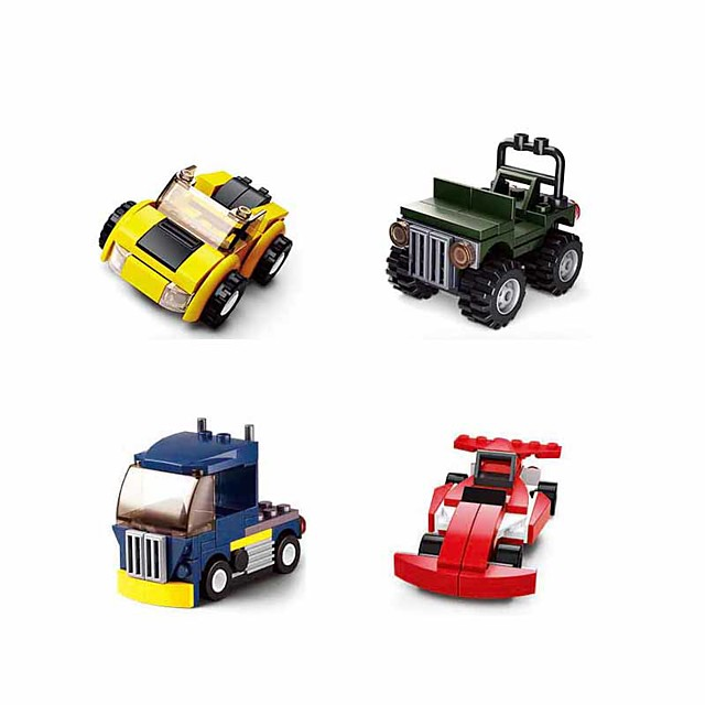 Building Blocks Educational Toy Construction Set Toys 196 pcs Vehicles Truck Cartoon compatible Plastic Shell Legoing Exquisite Hand-made Decompression Toys DIY Boys and Girls Toy Gift / Kid's