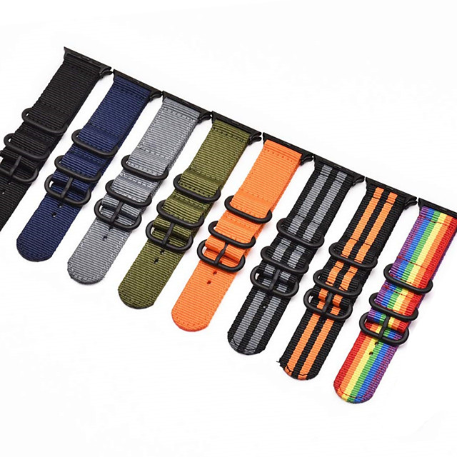 Watch Band for Apple Watch Series 5 / Apple Watch Series 5/4/3/2/1 / Apple Watch Series 4 Apple Sport Band Fabric / Nylon Wrist Strap
