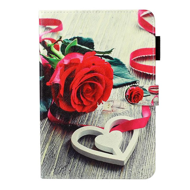 Case For Apple iPad 10.2 / iPad Mini 3/2/1 /Mini 4/5 Wallet / Card Holder / with Stand Full Body Cases Flower PU Leather For iPad Pro 9.7/New Air 10.5 2019/Air 2/2017/2018