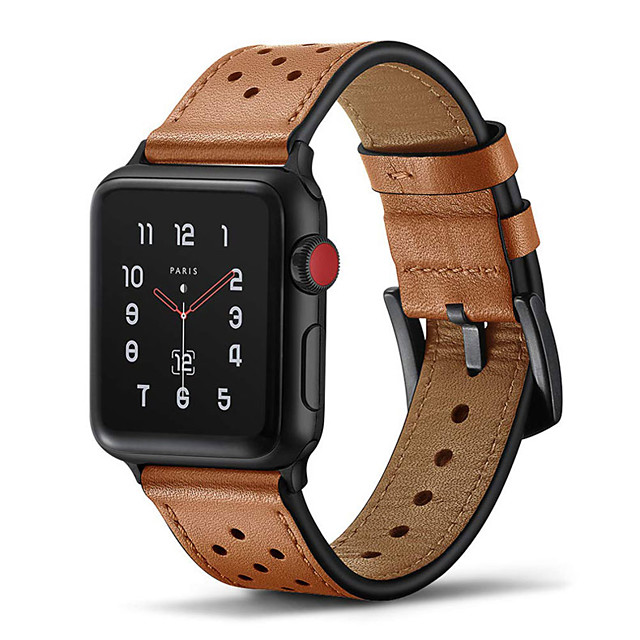 Watch Band for Apple Watch Series 5 / Apple Watch Series 4 / Apple Watch Series 4/3/2/1 Apple Leather Loop Genuine Leather Wrist Strap