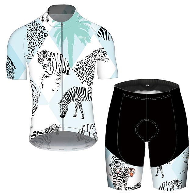 21Grams Men's Short Sleeve Cycling Jersey with Shorts Spandex Polyester White Oktoberfest Beer Bike Clothing Suit UV Resistant Breathable Quick Dry Sweat-wicking Sports Oktoberfest Beer Mountain Bike