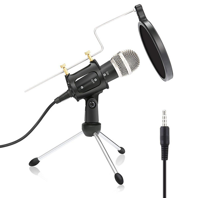 Wired Microphone Condenser Microphone Pop Filter X-01 3.5mm Jack for Studio Recording & Broadcasting Notebooks and Laptops PC Mobile Phone