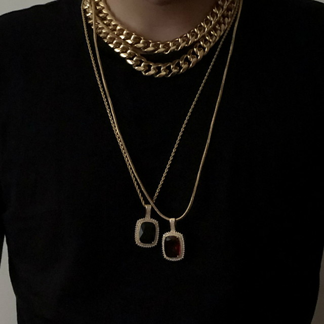 Women's Pendant Necklace Double Layered Boho Gold Plated Gold 58 cm Necklace Jewelry 1pc For Daily