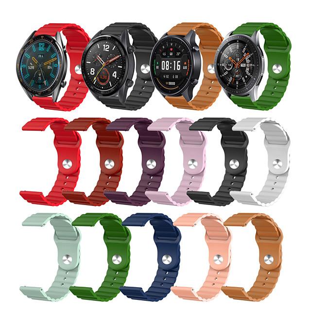 Watch Band for Gear S3 Classic / Samsung Galaxy Watch 46mm / Huawei Watch GT 2 Samsung Galaxy Sport Band Silicone Wrist Strap