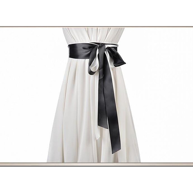 Plain Poplin Birthday / Party / Evening Sash With Belt Women's Sashes
