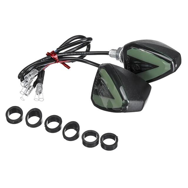 12V Motorcycle Turn Signal Lights Indicator Blinker Universal Amber Lamp