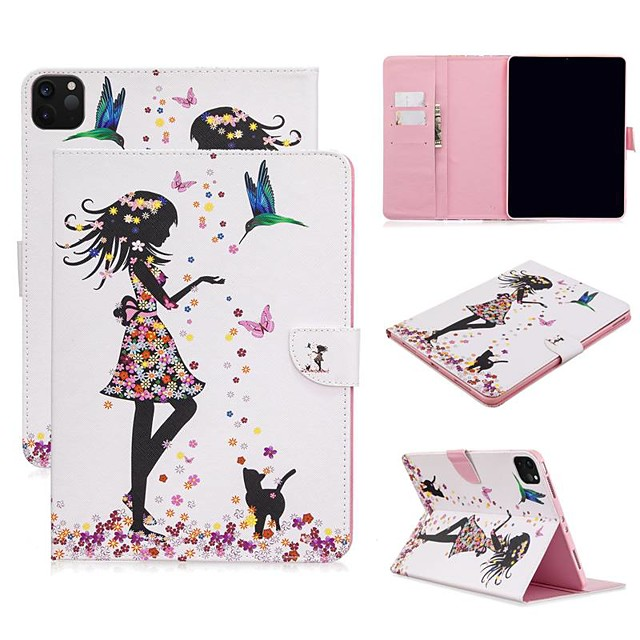 Case For Apple iPad Air/iPad 4/3/2/Mini 3/2/1 Wallet / Card Holder / with Stand Full Body Cases Sexy Lady PU Leather For iPad Pro 9.7/New Air 10.5 2019/Pro 11 2020/Mini 5/2017/2018/ipad 10.2