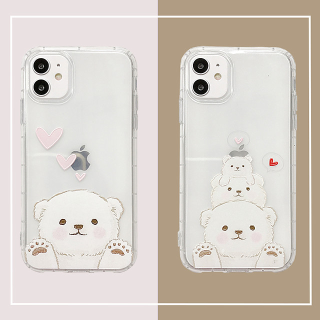 Case For Apple iPhone 11 /11 Pro / 11 Pro Max/SE2020/6/7/8/x/xr/xsmax/7p/6p Ultra-thin / Transparent Back Cover Cartoon TPU