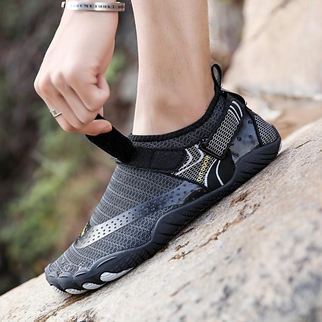 Обувь для плавания 2,5 мм В полоску Спандекс Сетка Синтетическая кожа Противозаносный Быстровысыхающий Плавание Дайвинг Серфинг Для погружения с трубкой С аквалангом Рафтинг - для Взрослые