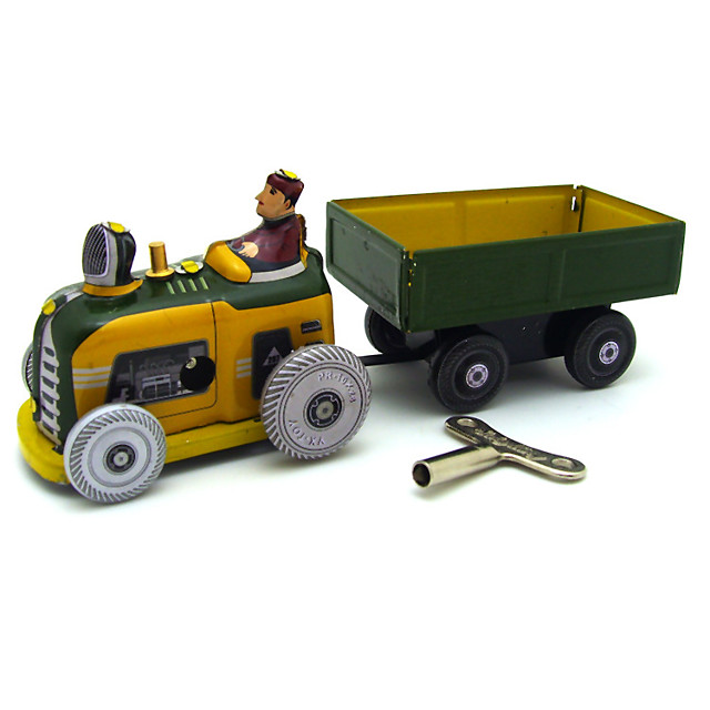 MS511 Toy Truck Construction Vehicle Car Bus Family Art Deco / Retro Adorable Parent-Child Interaction Wind Up Iron Adults Boys and Girls Toy Gift 1 pcs
