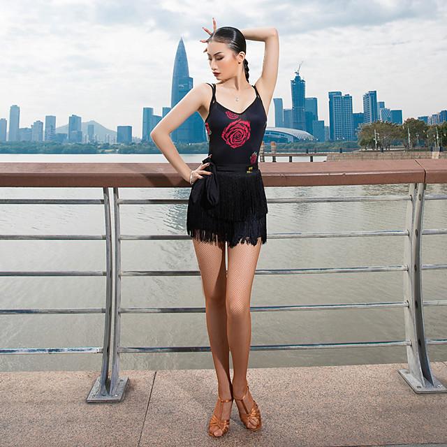 Latin Dance Vest Pattern / Print Women's Performance Sleeveless Milk Fiber