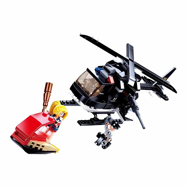 Building Blocks Educational Toy Construction Set Toys 221 pcs Cartoon Airplane compatible Plastic Shell Legoing Exquisite Hand-made Decompression Toys DIY Boys and Girls Toy Gift / Kid's