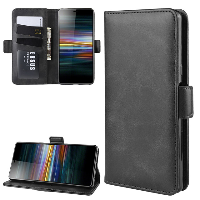 For Sony Xperia L3 / Sony Xperia XZ3 / Sony Xperia 1 II Wallet Stand Leather Cell Phone Case with Wallet & Holder & Card Slots