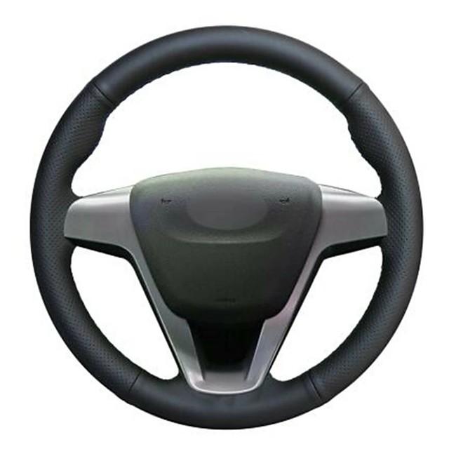Car Steering Wheel Covers Wrap Black For Lada Vesta 2015-2019 For Xray 2015-2019
