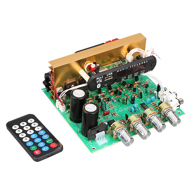 Amplifier Board Digital Audio Stereo Hi-Fi 18-26 V 2.1 Adapters 20-30000 Hz for Car Home Theater Speakers DIY