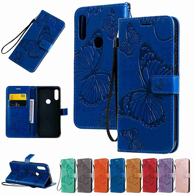Case For Motorola MOTO G8 / Moto G8 Power / Moto E7 Wallet / Card Holder / with Stand Full Body Cases Butterfly Embossing PU Leather / TPU for MOTO E6 Play / MOTO E6 / MOTO E6 Plus