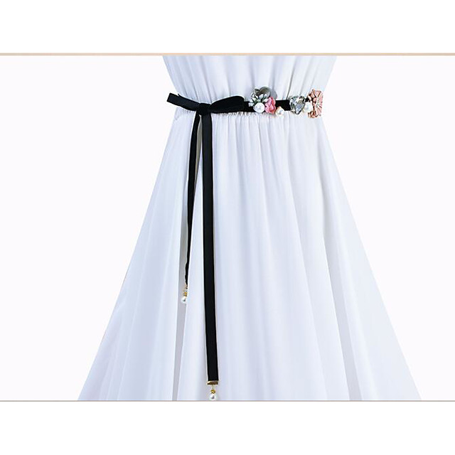 Plain Poplin Wedding / Party / Evening Sash With Petal / Belt / Appliques Women's Sashes