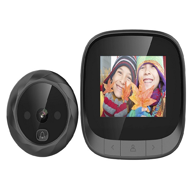 2.4-inch visual cat-eye doorbell camera supports night vision photography built-in memory cycle coverage long standby