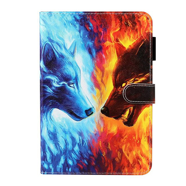 Case For Apple iPad 10.2 / iPad Mini 3/2/1 /Mini 4/5 Wallet / Card Holder / with Stand Full Body Cases Animal PU Leather For iPad Pro 9.7/New Air 10.5 2019/Air 2/2017/2018