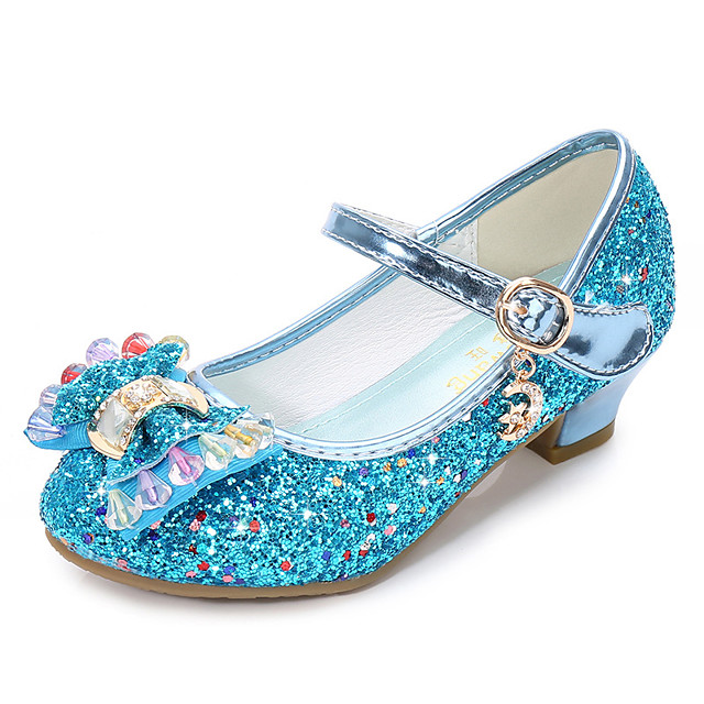 Girls' Flats Comfort / Flower Girl Shoes Leatherette Little Kids(4-7ys) / Big Kids(7years +) Buckle / Sequin Blue / Pink / Gold Spring & Summer / TPR (Thermoplastic Rubber) / EU37