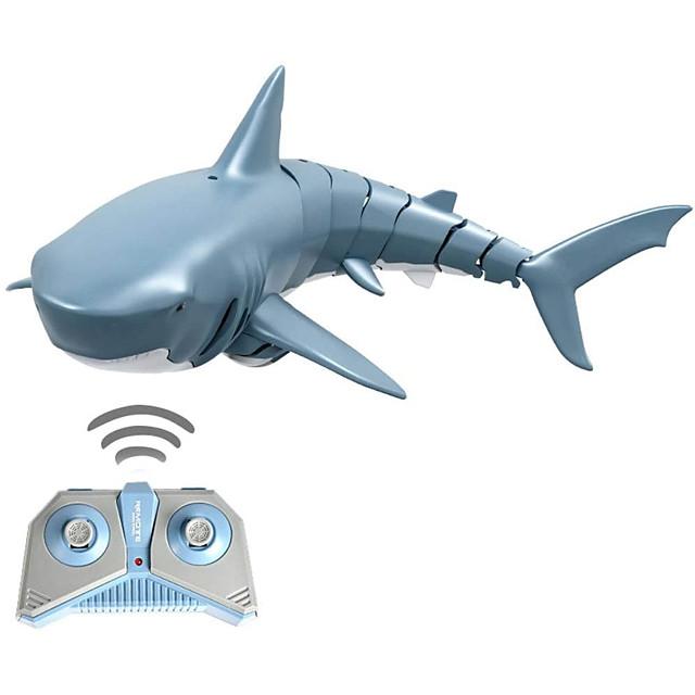 RC Boat RC Shark ABS 4 pcs Channels 1 km/h KM/H